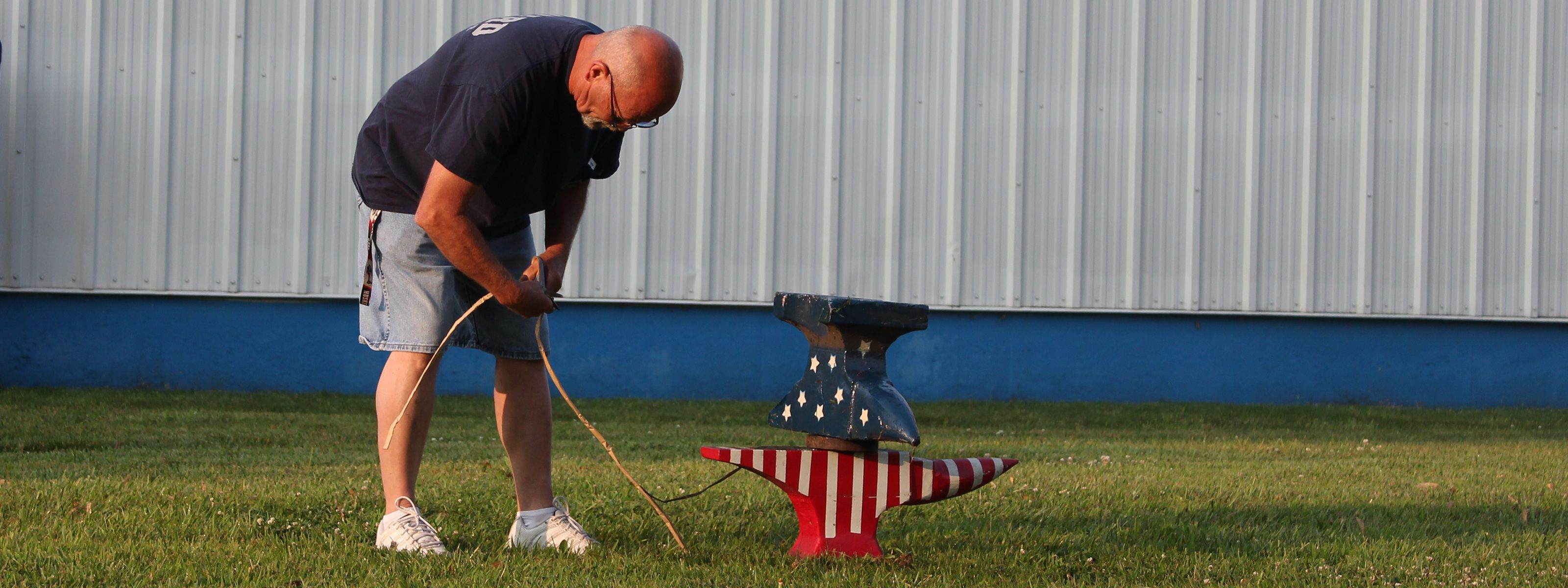 Anvil Firing at the 4th of July Celebration in Seward, Nebraska