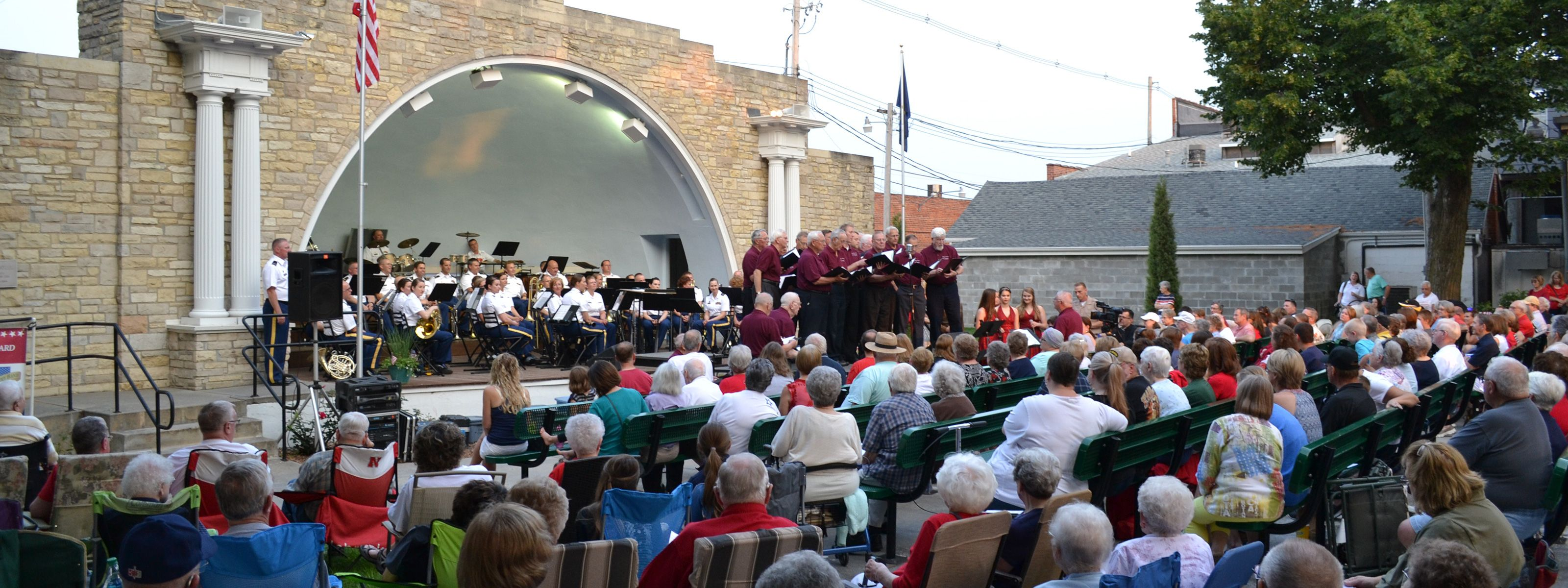 Performance at the Bandshell in Seward, Nebraska on July 4th