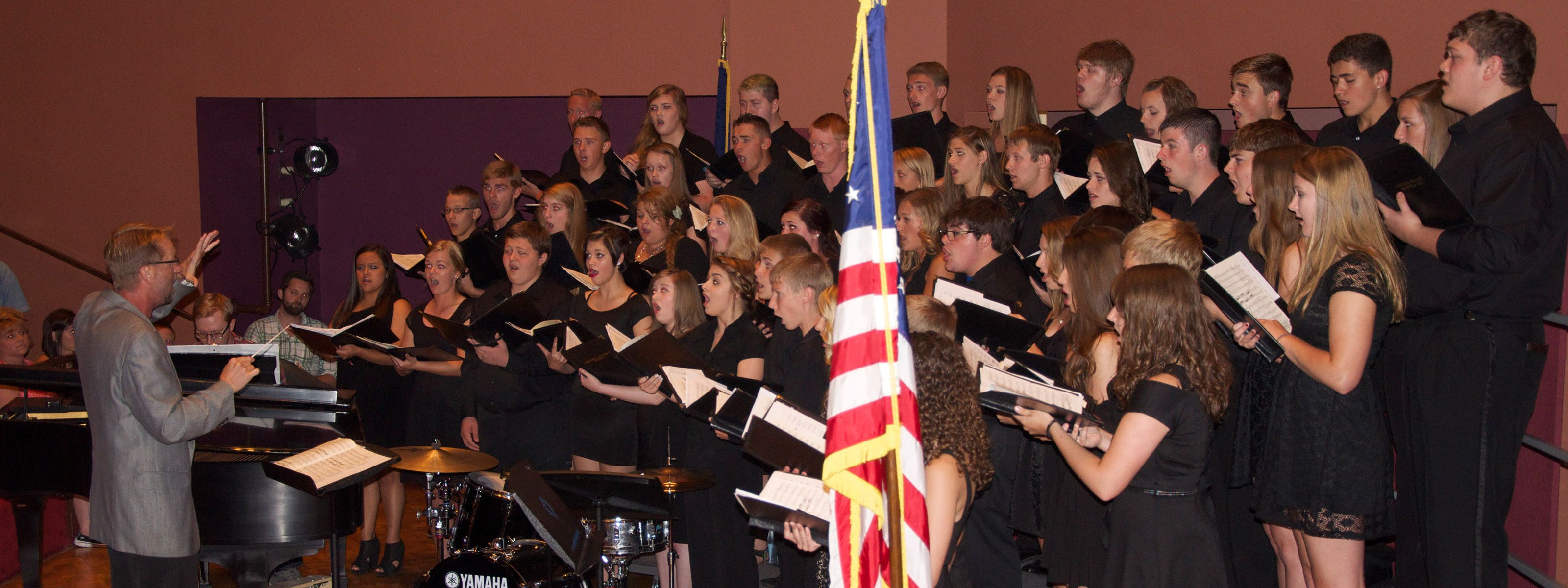 Choir performing in Seward, Nebraska on July 4th